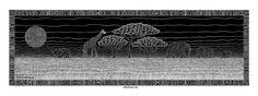 Serengeti Skyline, 7x22, black pen on paper