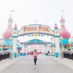 girl skipping into Pixar Pier at Disneyland Resort Photopass location girl skipping into Pixar Pier at Disneyland Resort Photopass location Disneyland Photography, Disneyland Photos, Disneyland California, Disneyland Resort, Disney Vacations, Disney Trips, Disney Parks, Disney Land Pictures, Disneyland Christmas