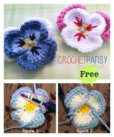 Pansy Flower Free Crochet Pattern