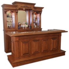 There comes a time in every adult's life when a bar cart just won't do anymore. In which case, it might be time to upgrade to a bar cabinet. Diy Home Bar, Modern Home Bar, Home Pub, Bars For Home, Basement Bar Plans, Basement Bar Designs, Home Bar Designs, Custom Home Bars, Custom Homes