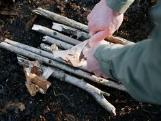 Creating a spark with the Scoutmaster Firesteel.