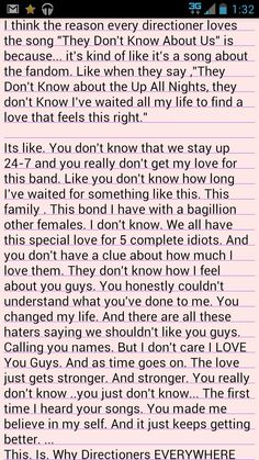 """Breakdown: Why Directioners Love """"They Don't Know About Us""""..-The last part just says """"Absolutely Love """"They Don't Know About Us"""""""" ..<------- 100% support this^.^"""