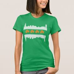 Cute Irish Chicago Skyline Flag St Patrick's Day T-Shirt