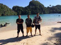 Here we go... Three idiots in sempu island...