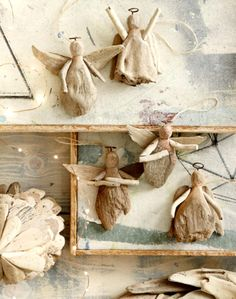 Driftwood Angel Ornaments Slim natural driftwood wings help our Angel Ornaments take flight. Carefully selected pieces of natural, reclaimed driftwood are used to form and create our ornaments. Each is hand-made and unique by nature.