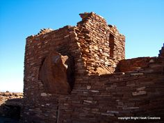 Wupatki Ruins, Arizona. Huge boulder in the way? No problem! Incorporate it into the wall!
