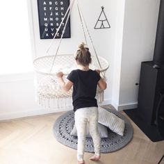 HANGING BASSINET   lovely cradle of bamboo and coton. Hanging Bassinet, Hanging Chair, Baby F, Baby Swings, Baby Online, Having A Baby, Little Sisters, Kids Room, Instagram Posts