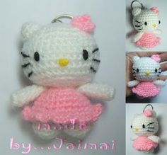 Hello Kitty amigurumi!!!!! I've seen a pattern for one before but it didn't look as much like her as this one does!! This is a dead ringer!!