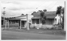 House and shop on the corner of Sabulite Rd and Gt Nth Rd, Kelston. March It was demolished Oct Photo Auckland Libraries Glen Eden, Nz History, Great North, Auckland, Libraries, New Zealand, The Neighbourhood, March, Corner