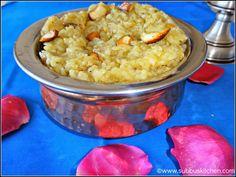 Sweet Rice Pongal / Sakkarai Pongal   Subbus Kitchen