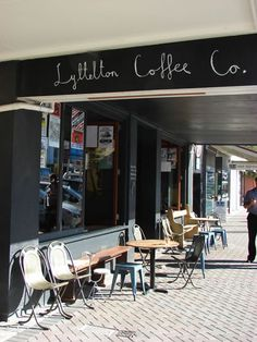 Lyttelton Coffee Co., Lyttelton, New Zealand - Cosy Coffee Shops - UK independent coffee shop guide and map Coffee Shop Bar, Coffee Shops, Long White Cloud, Coffee Company, Old Building, South Island, Best Coffee, Kiwi, Cosy