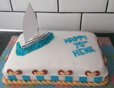 zeilboot taart  ( sailing boat cake )