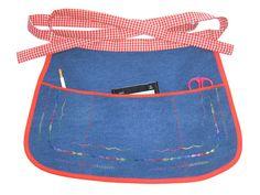 Waist Apron with 3 Pockets Craft/Work Denim by ElizabethCreations, $14.00
