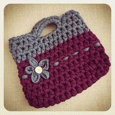 T-Shirt Yarn Crafts | ... Bag by Delimalimon Craft. T-shirt yarn and XL ... | Crochet/y