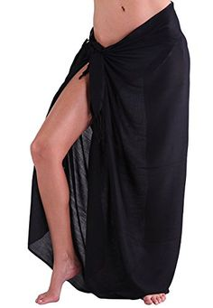 87011ce2486 Oryer Womens Sarong Wrap Beach Sarong Pareo Chiffon Swimwear Cover up  Swimsuit Wrap Solid Color Beach