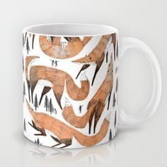 Giant forest of foxes Mug, $15