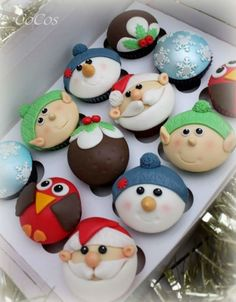 Christmas Themed Cupcakes By Lynette Brandl - (cakesdecor)