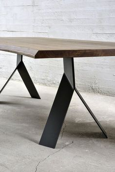 Here are the And Unique Industrial Table Design Ideas. This article about And Unique Industrial Table Design Ideas was posted … Steel Table Legs, Dining Table Legs, Dining Table Design, Metal Legs For Table, Industrial Table Legs, Industrial Furniture, Industrial Stairs, Industrial Cafe, Industrial Windows