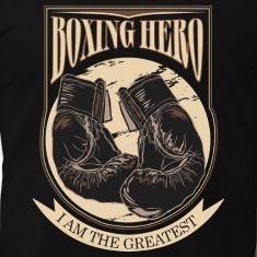Boxing Hero - The Greatest - On Dark Tee shirts