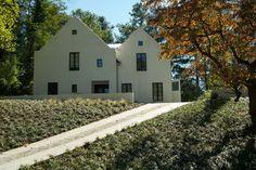 Modern stucco gable