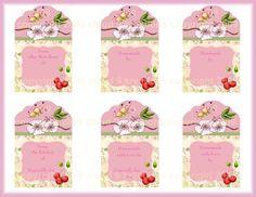 La flor de cerezo Tarro de enlatado de conservas de etiquetas etiqueta de tarro, frasco de conservas, flor de cerezo, hoja del collage