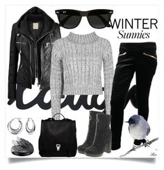 """""""Winter Sunnies"""" by letiperez01 ❤ liked on Polyvore featuring Ray-Ban, WearAll, Gucci, Red Or Dead, Proenza Schouler, AS29, Bling Jewelry, women's clothing, women's fashion and women"""