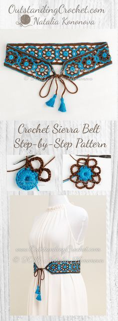 Sierra Belt Step-by-Step Crochet Pattern at www. - Sierra Belt Step-by-Step Crochet Pattern at www.OutstandingCr… Imágenes efectivas que le proporci - Crochet Belt, Crochet Diy, Crochet Motifs, Crochet Crafts, Crochet Stitches, Crochet Projects, Boho Crochet Patterns, Diy Crafts, Crochet Ideas
