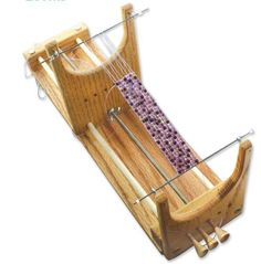 Ricks Beading Loom Kit - The Only Loom with Two Warp Threads to Deal with When Your Project Is Complete by Ricks Loom, http://www.amazon.com/dp/B008KLP6QO/ref=cm_sw_r_pi_dp_ftZxrb0HNS2ZV