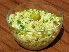 chleba naszego: Surówka ogórkowa z kapustą w 5 minut. Tahini, Hot Dog, Guacamole, Potato Salad, Grains, Potatoes, Rice, Mexican, Ethnic Recipes
