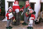 Byer's Choice carolers, made in Chalfont, PA!  They have a great tour & gardens.