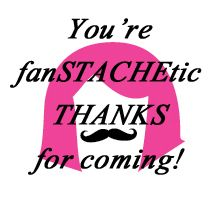 Gift bag tag for Wig and Stache Bash