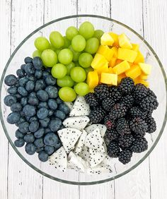 Summer Fruit Salad Recipe - Valya's Taste of Home blackberries, blueberries, clean eating, dragon fr Easy Healthy Recipes, Healthy Snacks, Healthy Eating, Dessert Healthy, Snacks List, Dinner Healthy, Comida Diy, Desserts Sains, Summer Salads With Fruit