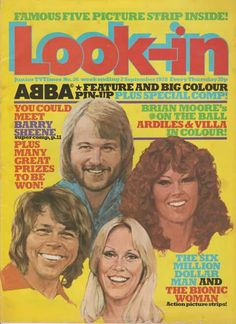 Abba cover of the Villa Plus, Brian Moore, Pop Posters, Pop Magazine, Famous Pictures, Vintage Ads, Childhood Memories, That Look, About Me Blog