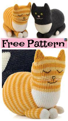 Adrorable Knit Gentle Dragon – Free Pattern #freeknittingpattern #kitty #knittoys #cat