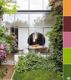 lunch room + garden #garden #windows