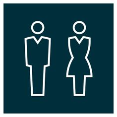 Man | Woman #pictograms #icon #graphicdesign #vector #vectorgraphics #illustration #martinfriedl #bathroom #bathroomsign #restroom #restroomsign