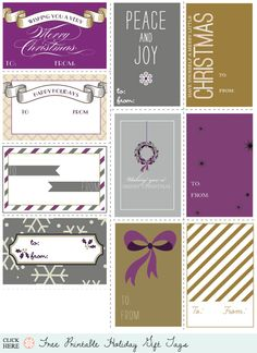Free Gift Tag Printables - Home - Creature Comforts