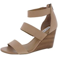 f09f1a9ed5de Steve Madden Womens Karey Tan Wedge Sandals Shoes 10 Medium (B