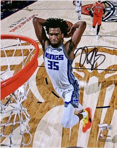 Marvin Bagley III Sacramento Kings Autographed x Photograph Marvin Bagley Iii, King Play, Western Conference, Sacramento Kings, Lebron James, Purple And Black, Card Games, Nba, Photograph