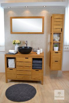 Az anyag természetes szépsége színt és fényt visz a helyiségbe. Modern, elegáns design Double Vanity, Bathroom, Modern, Washroom, Trendy Tree, Bathrooms, Bath, Double Sink Vanity