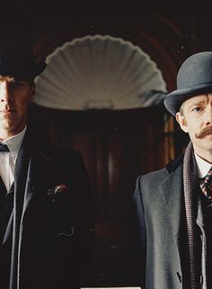 """The Abominable Bride"" - Holmes and Watson. Adventures Of Sherlock Holmes, Sherlock Holmes Bbc, Sherlock John, Moriarty, Benedict Sherlock, Benedict Cumberbatch, Sarah Andersen, Johnlock, Detective"