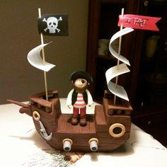 Pirate ship Cake topper
