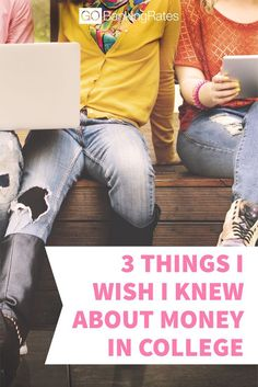 Click through to learn about the 3 things I wish I knew about money in college....