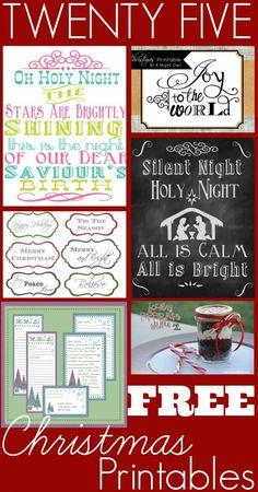 25 Free Christmas Printables - The Coupon Project