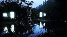 """Night Stroll"" makes downtown Tokyo an ambient canvas for geometric light animation. Artist Tao Tajima"""