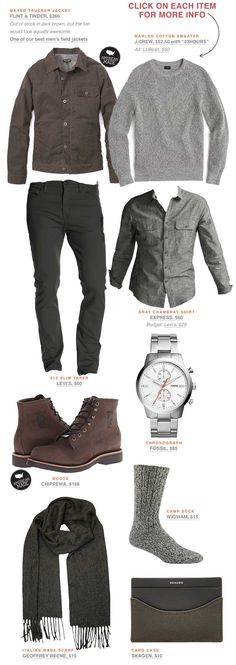 It's not spring just yet - this stylish men's outfit will keep you warm and dry.