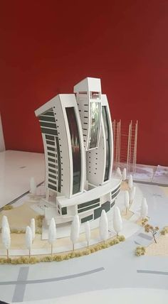 Model for a mixed use project. Concept Models Architecture, Maquette Architecture, Architecture Model Making, Plans Architecture, Futuristic Architecture, Amazing Architecture, Interior Architecture, Architectural Scale, Arch Model