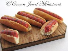 Grilled hot dogs by Crown Jewel Miniatures.