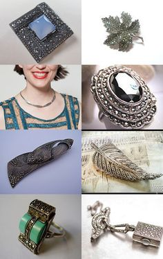The allure of the perfect antique style marcasite jewelry by badaradio on Etsy--Pinned with TreasuryPin.com
