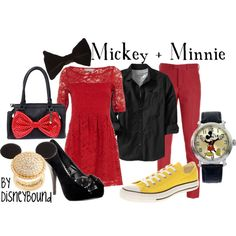 Mickey + Minnie, created by lalakay on Polyvore